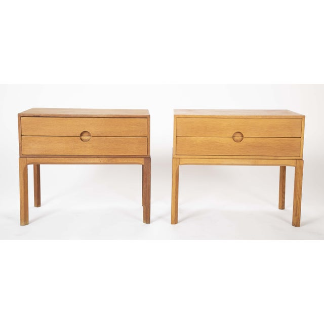 Danish Oak Night Stands by Aksel Kjersgaard - a Pair For Sale - Image 13 of 13