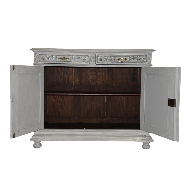 Traditional French Louis XVI-style Painted Buffet - Image 10 of 10