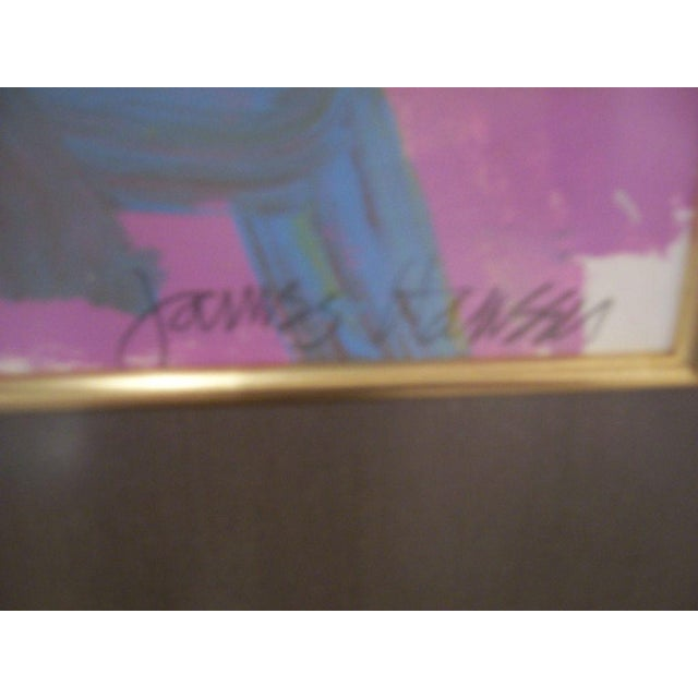 Abstract A Framed Acrylic on Paper by James Hansen For Sale - Image 3 of 4