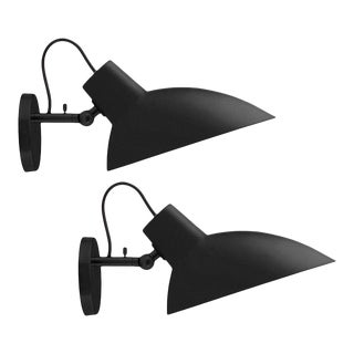Vittoriano Viganò 'VV Cinquanta' Sconces in Black - a Pair For Sale