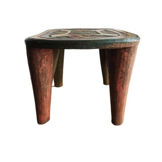 "African Lg Nupe Stool / Table Nigeria 11.75 H by 19"" W Preview"