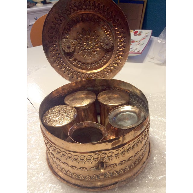 Antique Tinned Copper Repousse Box - Image 7 of 8