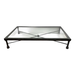 Vintage Brutalist Metal Coffee Table For Sale