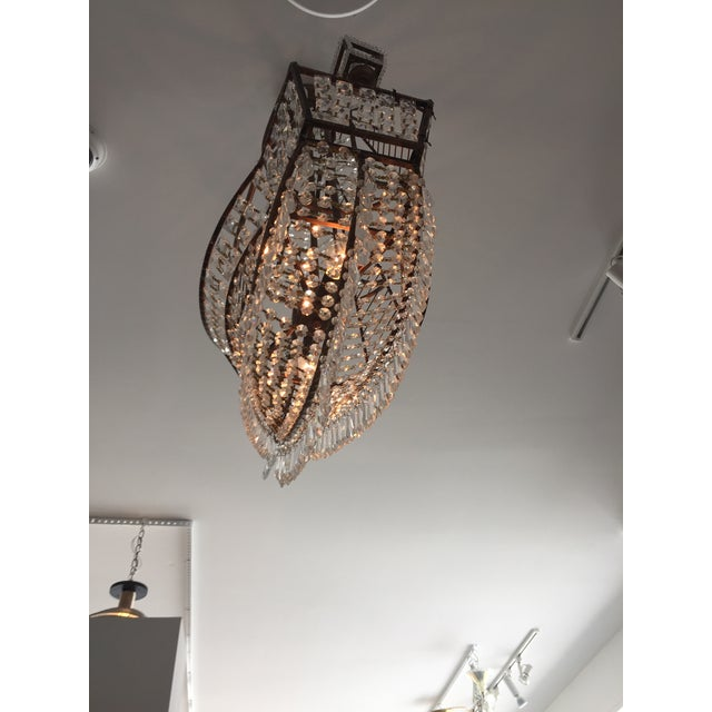 Spanish Galleon Ship Crystal Chandelier, Italy 1990s For Sale - Image 9 of 13
