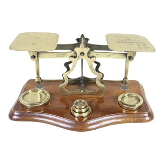 Early 20th Century Vintage Postage Scale For Sale