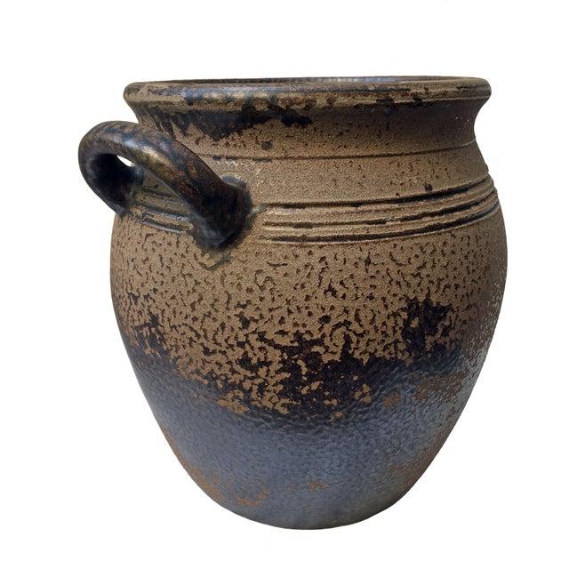 Vintage mid-century Scandinavian Höganäs Keramik 8L crock with handles. Condition is excellent; interior shows signs of...