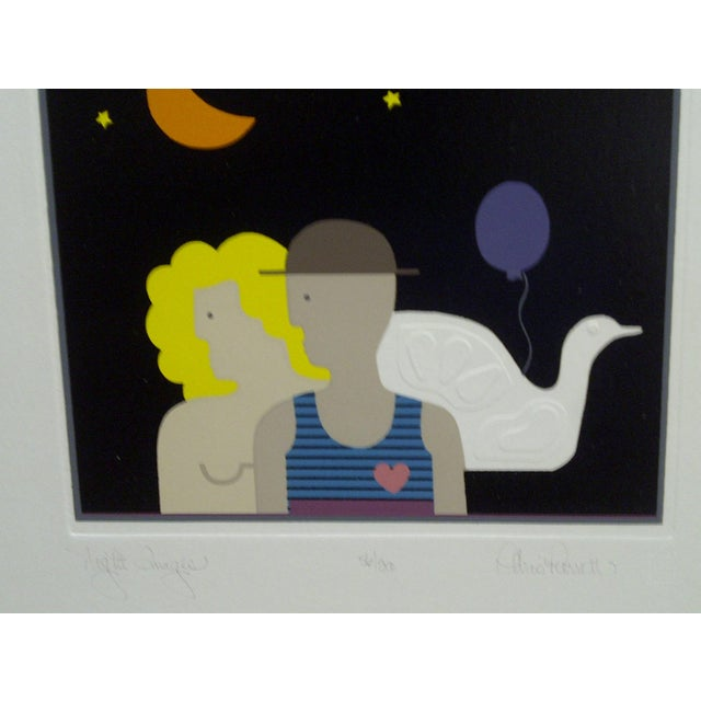 "20th Century Silkscreen Print ""Night Images"" by Christina Parrett For Sale In Pittsburgh - Image 6 of 9"