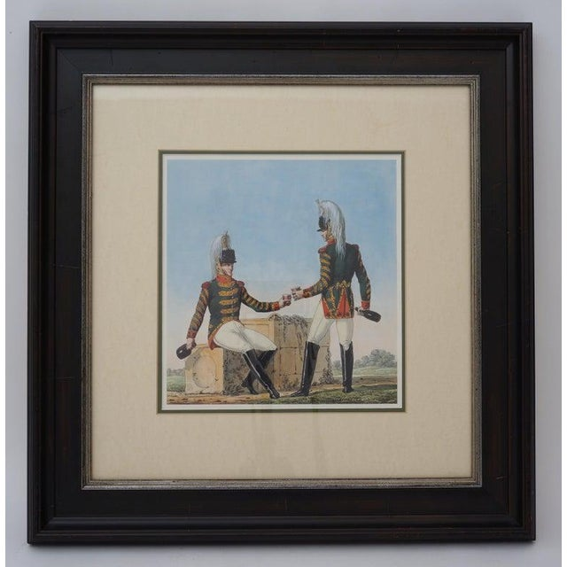 Campaign Vintage 1800's Style French Military Soldier Prints - a Set of 6 For Sale - Image 3 of 13