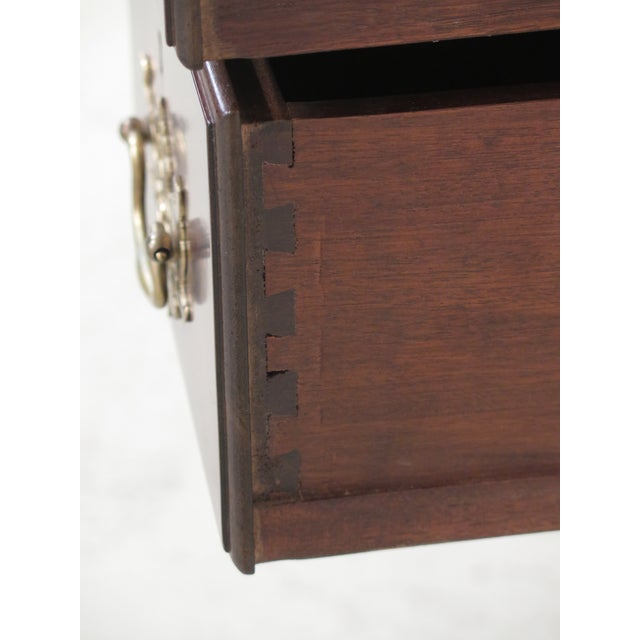 1980s Chippendale Kittinger Biggs Ball & Claw Mahogany Lowboy For Sale - Image 9 of 12