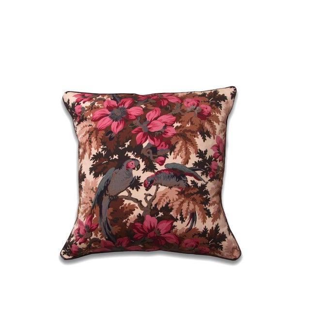 Boho Chic Boho Chic Jungle Parrots Print Pillow For Sale - Image 3 of 3