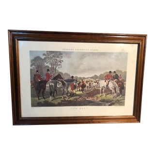 "Herrings Fox Hunting Scenes Lithograph, ""The Meet"" For Sale"