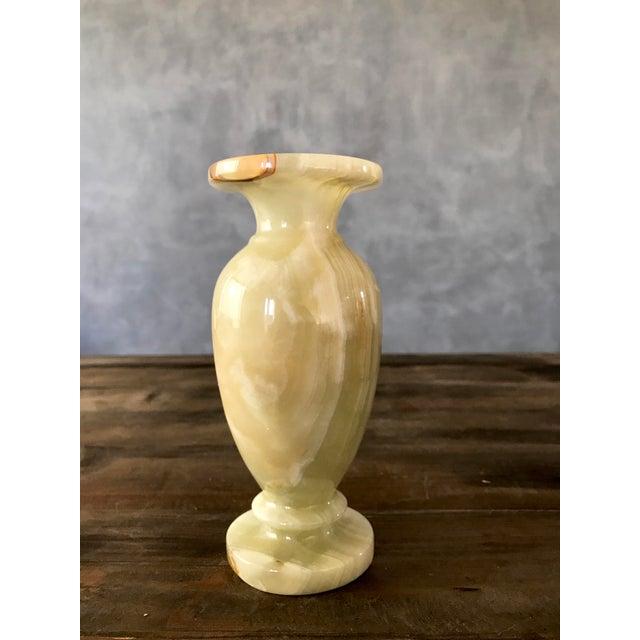 Light Green Alabaster Vase - Image 2 of 5