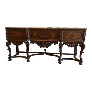 1930's Vintage Louis XV Style Sideboard Credenza For Sale