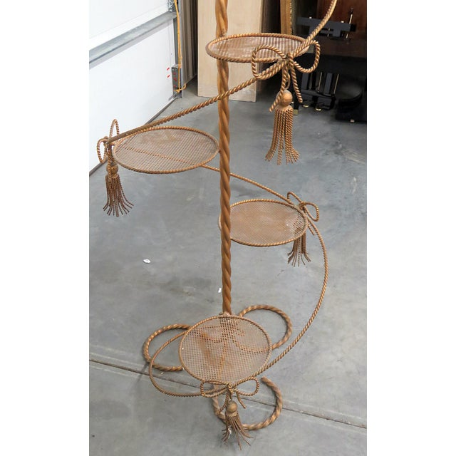 Gold Hollywood Regency Style Gilt Plant Stand For Sale - Image 8 of 10