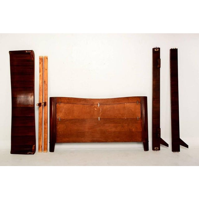 1950s Italian Parchment & Walnut Queen Bedroom Set For Sale - Image 5 of 9