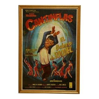 "Circa 1957 ""El Bolero De Raquel"" Cantinflas Lithograph Poster For Sale"
