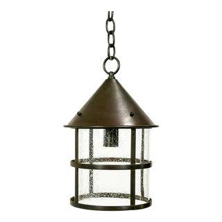 Seeded Glass Cylinder Lantern