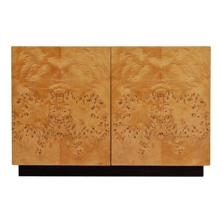 Arthur Umanoff Burlwood Corner Cabinet For Sale