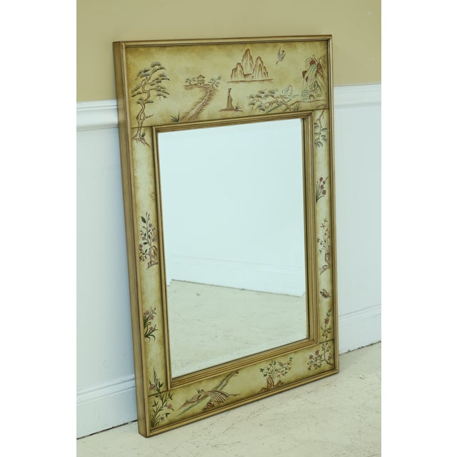 Item: 49344EC: LABARGE 8192-28 Eglomise Chinoiserie Decorative Mirror Age: Approx. 5 Years Old Details: Model 8192-28 (old...
