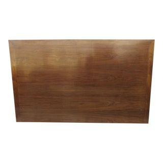 Mid Century Walnut Headboard with Mitered Edge For Sale