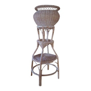Bohemian Vintage Wicker Plant Stand