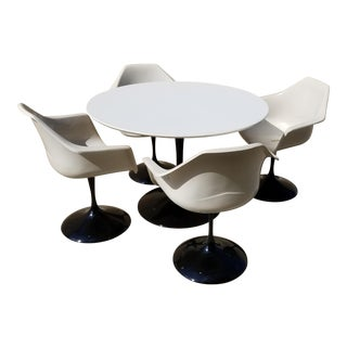 Mid Century Space Age Tulip Burke Inspired Dining Set For Sale
