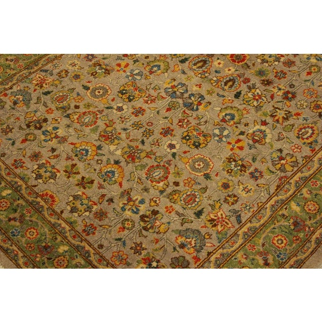 Istanbul Crysta Lt. Gray/Lt. Green Turkish Hand-Knotted Rug -4'2 X 6'3 For Sale - Image 4 of 8