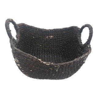 Moroccan Woven Sea-Grass Basket For Sale