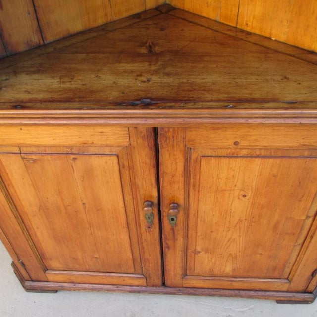 Antique Pine Corner Cabinet Hutch - Image 7 of 8 - Antique Pine Corner Cabinet Hutch Chairish