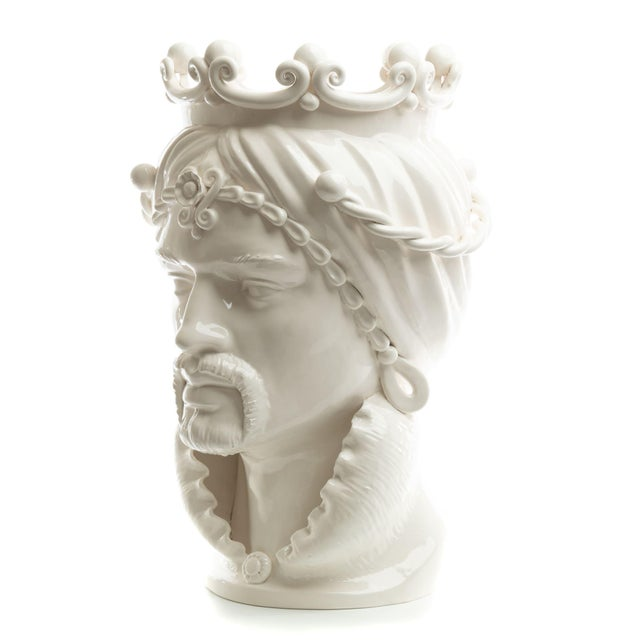 DESCRIPTION Schittone Moorish Head is Gigante and is handmade and painted in Italy. Referred to as Teste di Moro in...