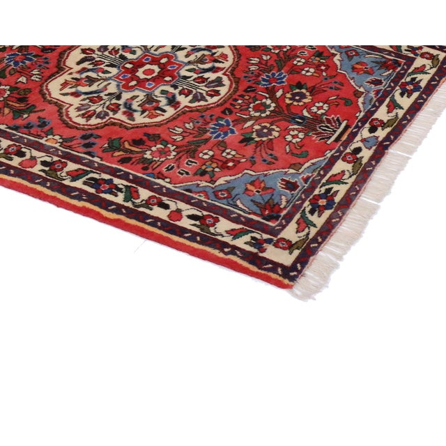 Textile Vintage Persian Roudbar Runner With Jacobean Style, Persian Hallway Runner, 3' X 9'5 For Sale - Image 7 of 9