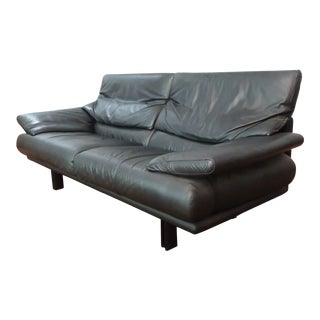 "Paolo Piva for B&B Italia Black Leather ""Alanda"" Sofa"