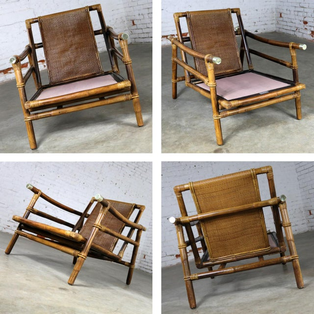 John Wisner for Ficks Reed Rattan Lounge Chair For Sale - Image 10 of 13