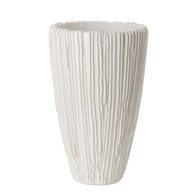 Contemporary White Alpine Cone Vase For Sale - Image 3 of 3