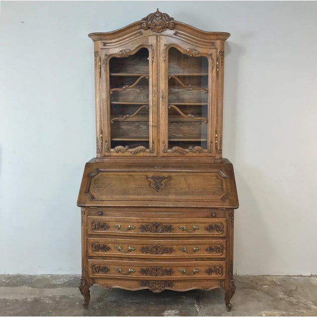 Antique Country French Secretary ~ Bookcase For Sale - Image 13 of 13