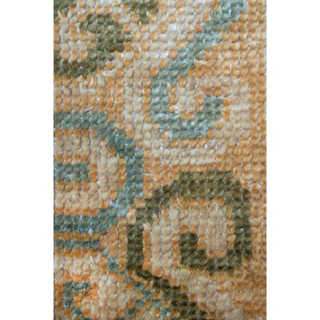 """Asian Mansour Pure Silk Khotan Rug - 6'8"""" X 9'10"""" For Sale - Image 3 of 4"""
