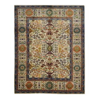 Persian Serapi Design Hand Knotted Area Rug - 8' X 10'3""