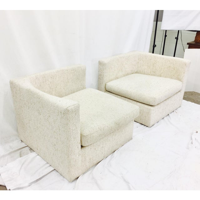 Vintage Mid-Century Modern Milo Baughman Arm Chairs - A Pair - Image 3 of 10