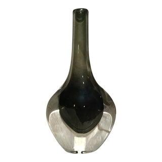 Nils Landberg Sommerso Glass Vase, Signed & Numbered For Sale