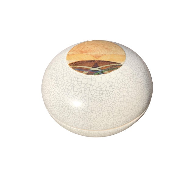 Rob Wiedmaier Art Studio Pottery Covered Jar For Sale