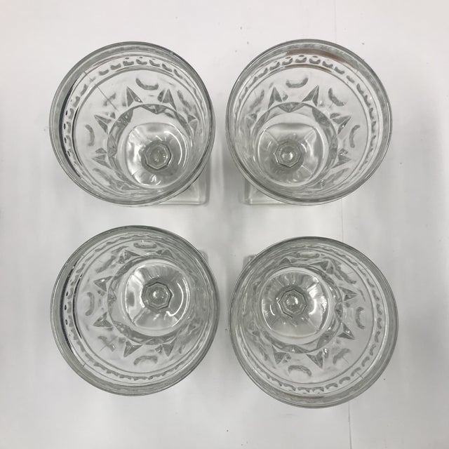 Vintage Indiana Glass Colony Park Lane Wine or Water Glasses - Set of 4 For Sale In Boston - Image 6 of 8