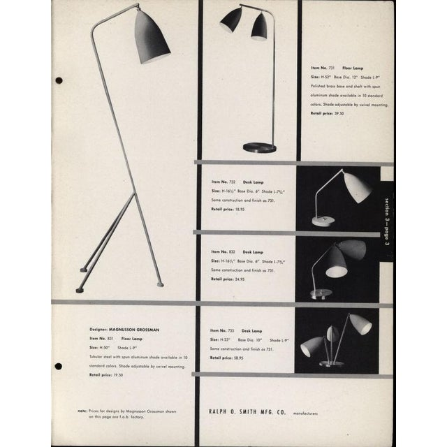 Rare 1940's Greta Magnusson-Grossman Table Lamp With Adjustable Shades For Sale - Image 12 of 13