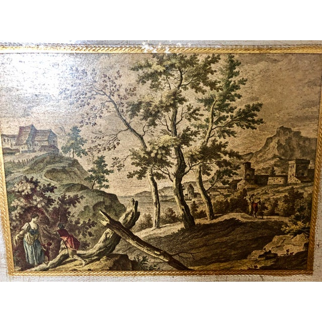 Mid 20th Century Vintage Florentine Scenic Wall Plaques For Sale - Image 5 of 8
