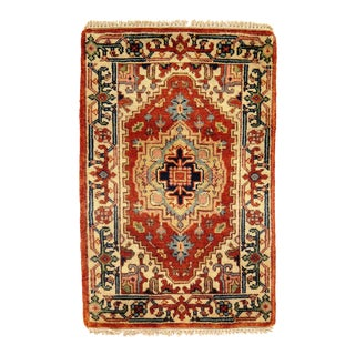 Traditional Pasargad N Y Fine Serapi Design Hand-Knotted Rug - 2' X 3'