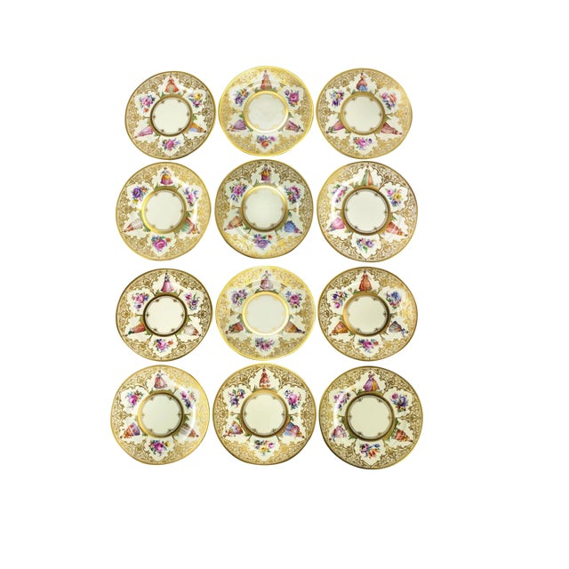Ambrosius Lamm Dresden Hand Painted Dinner Plates - Set of 12 - Image 1 of 5