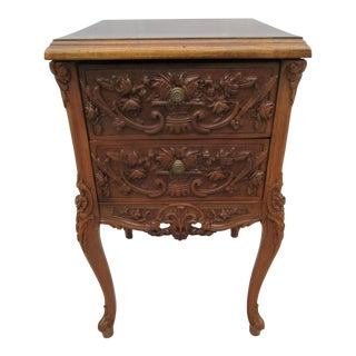 French Provincial Rococo Style Nightstand For Sale