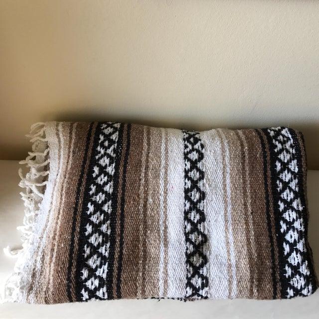 Mexican Boho Serape Blanket - Image 2 of 7