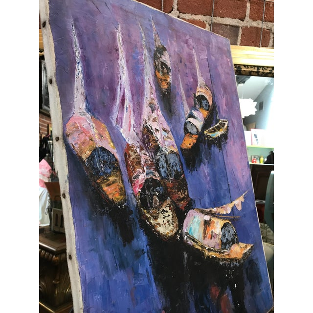 40s Exotic Impressionist Fishing Boat & Seascape Painting For Sale In Sacramento - Image 6 of 9