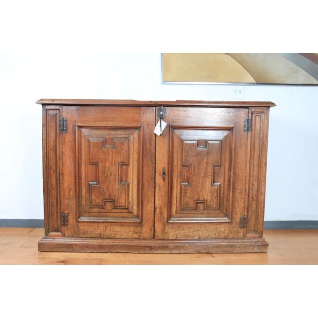 Late 1800's Rustic 2 Piece Italian Cabinet For Sale - Image 12 of 13