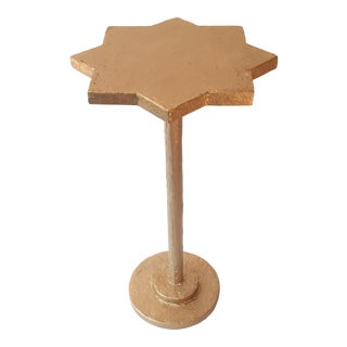 Modern Artisan Small Accent Table Gold For Sale